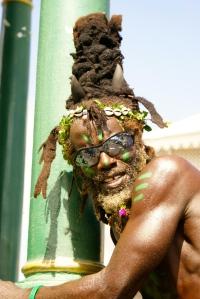 Habitante de la isla St. Kitts en el Caribe. Fotografiado en 2013